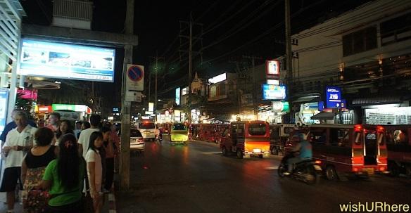 Patong Phuket Thailand Street Night Scene