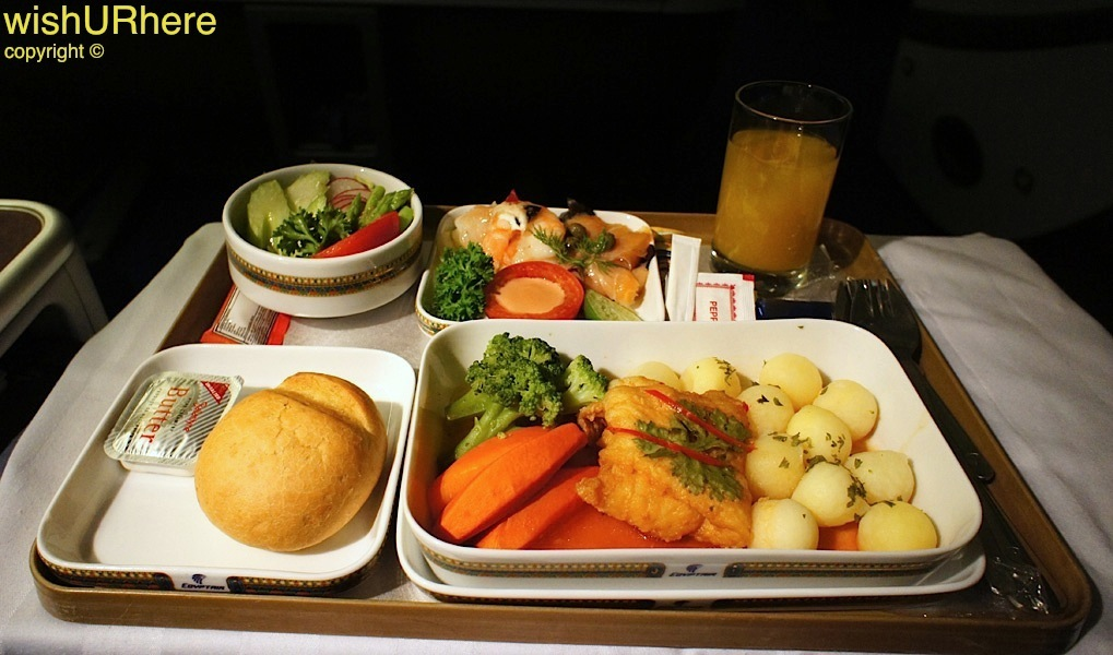 Meal On EgyptAir Flight ms 961 BkkCairo  wishURhere