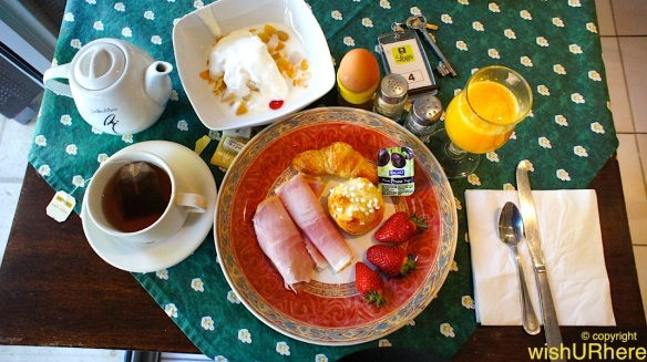 Breakfast at Logis Hotel Residence Les Cedres Avignon France