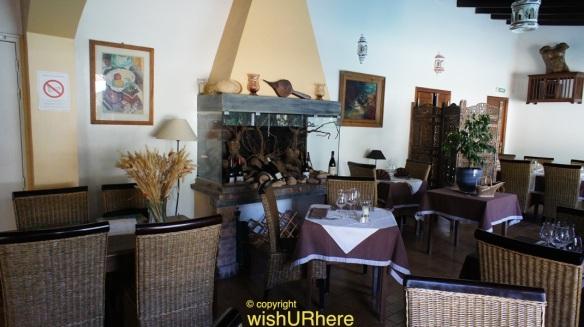 Restaurant at Logis Hotel Residence Les Cedres Avignon France