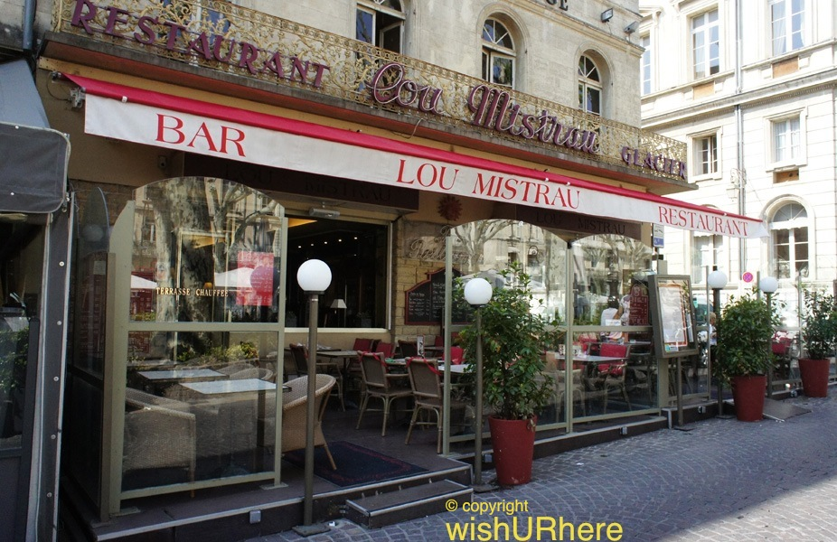 lou mistrau bar restaurant avignon france wishurhere. Black Bedroom Furniture Sets. Home Design Ideas