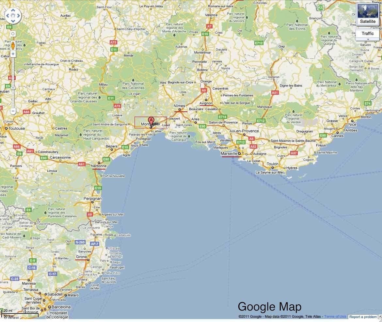 map montpellier france bnhspinecom