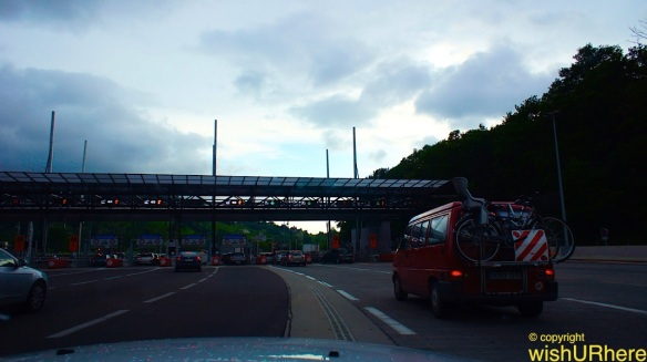 Toll gantry (from Biarritz to San Sebastian Spain)