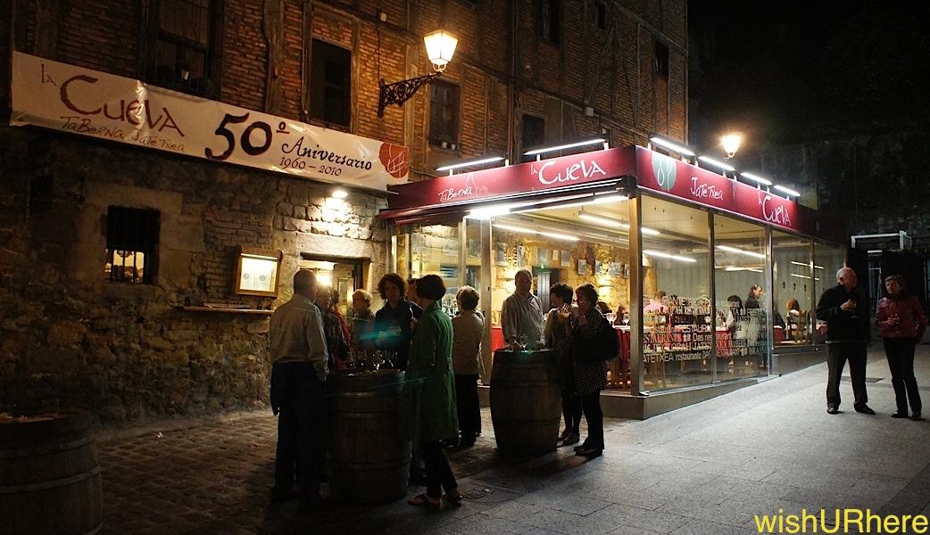 La Cueva Bar & Restaurant, Vielle Ville, San Sebastian Spain ...