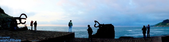 "The ""Wind Comb"" Sculpture at Chillida, San Sebastian Spain"