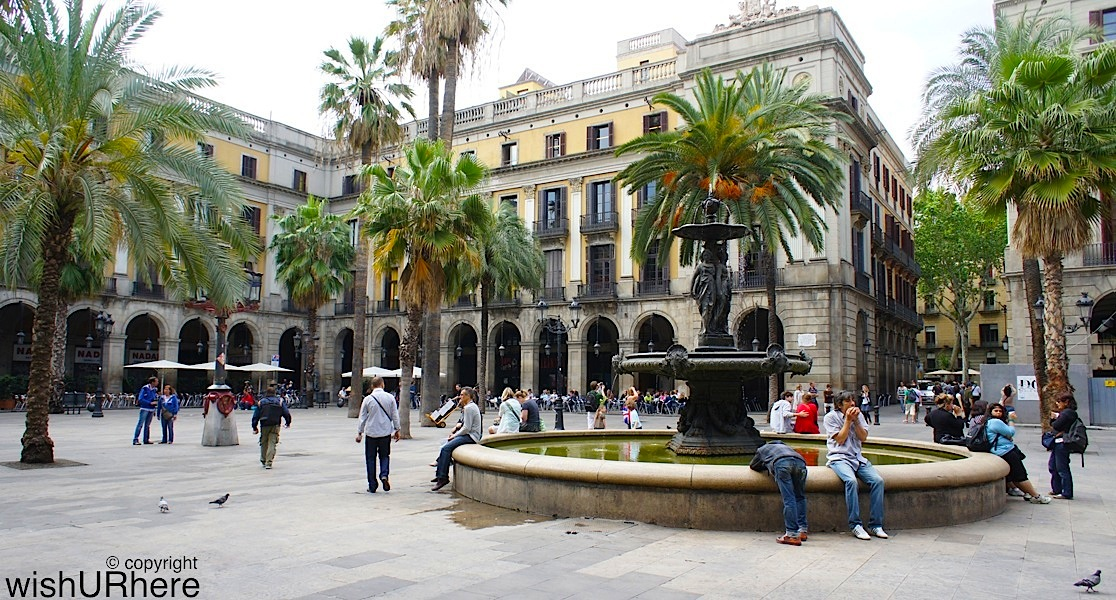 Plaa Reial Plaza Real Barcelona Spain WishURhere