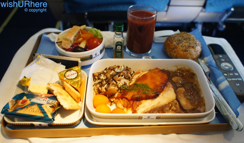 EgyptAir Meal MS 768 BCNCAI  wishURhere