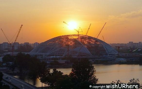 Sunrise- The Singapore Sports Hub