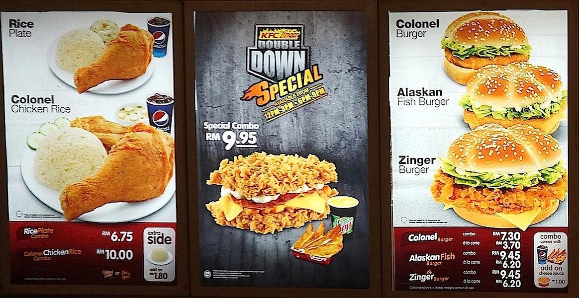 KFC Malaysia Menu Board | wishURhere