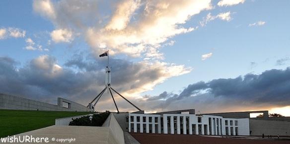 Australian Parliament House at Sunset