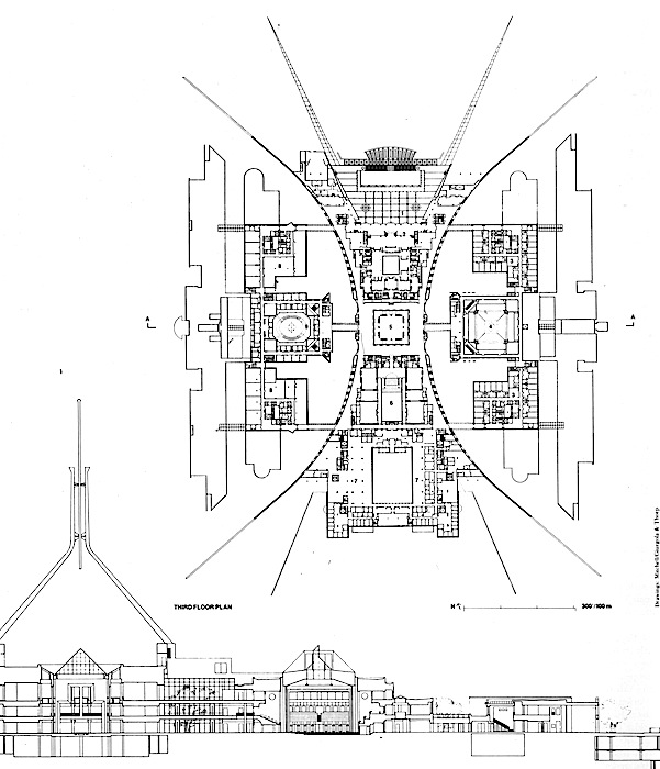 Australian parliament house plan wishurhere for Home designs canberra
