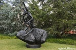 Thinker on a Rock by Barry Flanagan