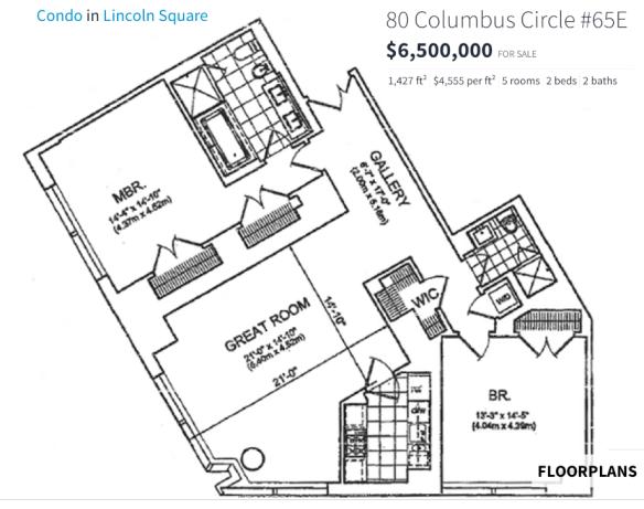 80 Columbus Circle Plan