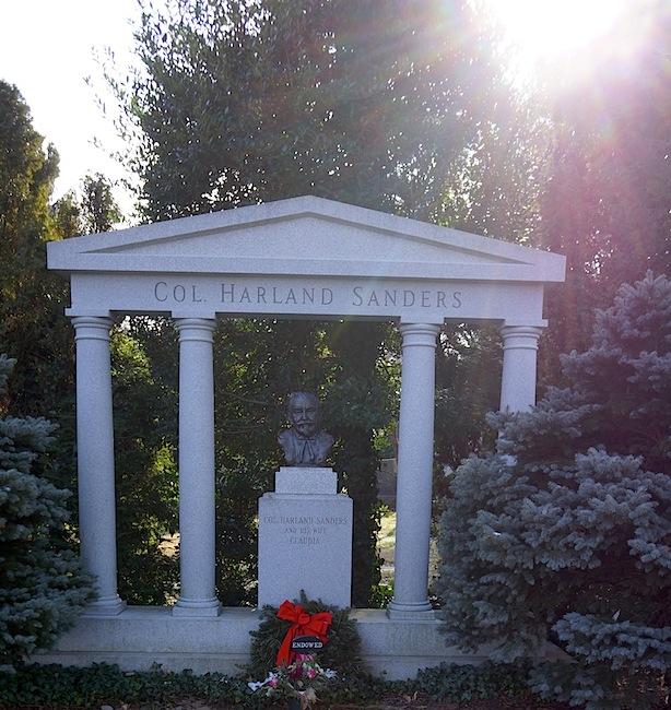 Colonel sanders grave in louisville kentucky wishurhere for David sanders home designs