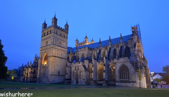 Exeter Cathedral by Night